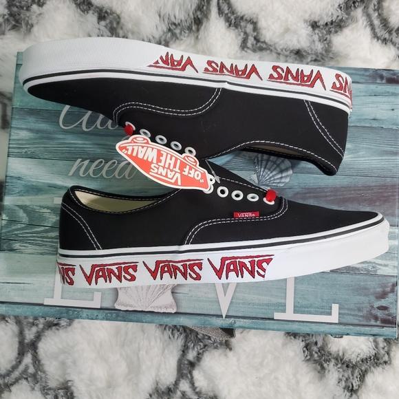 Vans Shoes   Vans Women Authentic Sketch Sidewall Black W   Poshmark